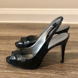 Guess Patent Leather Heeled Sandals